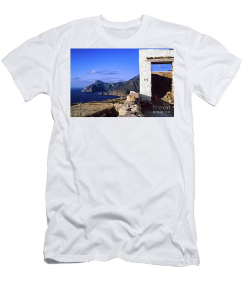 Men's T-Shirt (Athletic Fit) featuring the photograph Karpathos Island Greece by Silvia Ganora