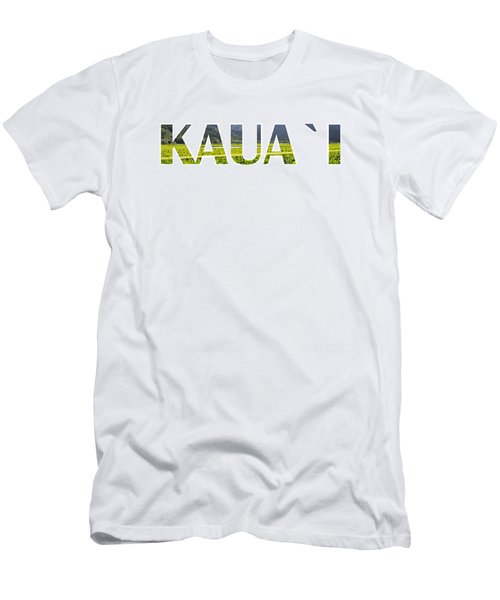 Kauai Letter Art Men's T-Shirt (Athletic Fit)
