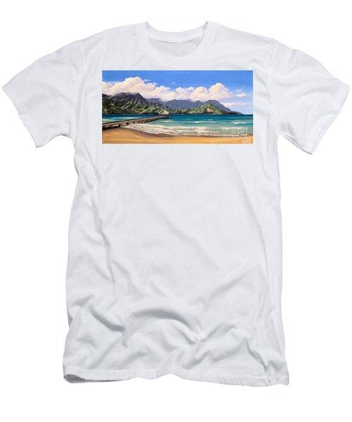 Kauai Surf Paradise Men's T-Shirt (Athletic Fit)