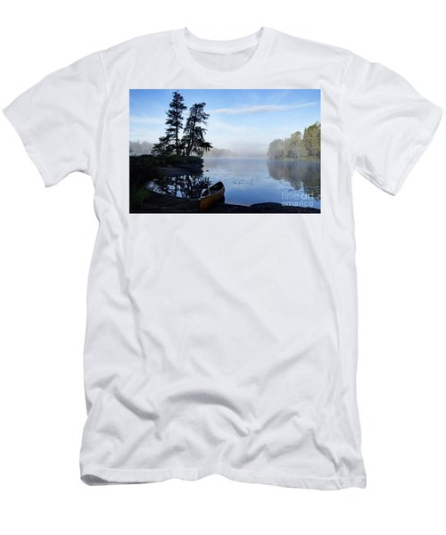 Men's T-Shirt (Slim Fit) featuring the photograph Kawishiwi Morning by Larry Ricker