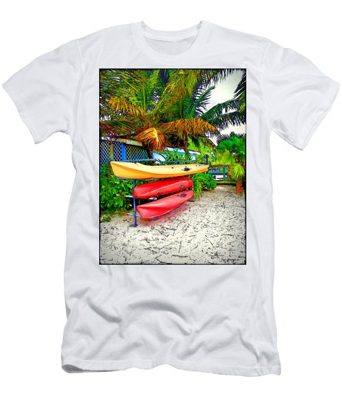 Kayaks In Paradise Men's T-Shirt (Athletic Fit)