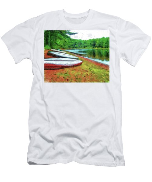 Kearney Lake Beach Men's T-Shirt (Athletic Fit)