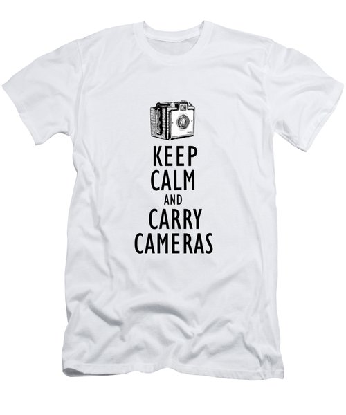 Keep Calm And Carry Cameras Phone Case Men's T-Shirt (Athletic Fit)