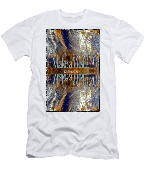 Keep Calm And Make A Wish Men's T-Shirt (Athletic Fit)