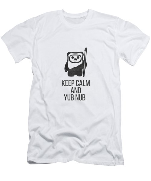 Men's T-Shirt (Slim Fit) featuring the drawing Keep Calm And Yub Nub by Edward Fielding