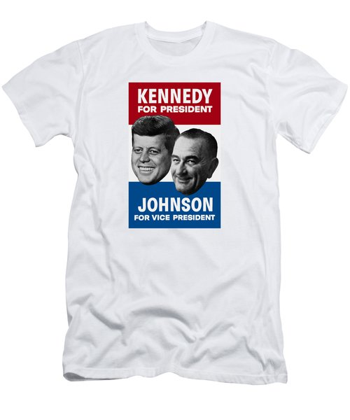 Kennedy And Johnson 1960 Election Poster Men's T-Shirt (Athletic Fit)