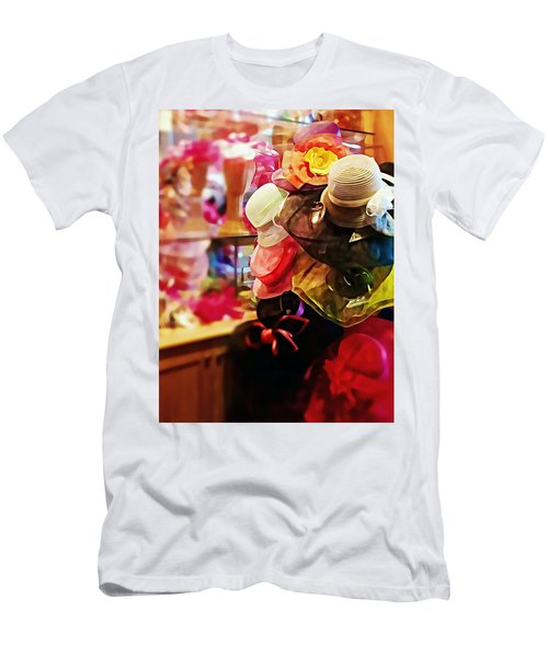 Men's T-Shirt (Slim Fit) featuring the photograph kentucky Derby Hats by Robin Regan