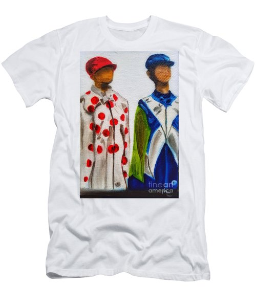 Kentucky Derby Jockey Mannequins Men's T-Shirt (Athletic Fit)