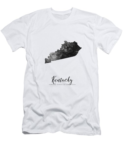 Kentucky State Map Art - Grunge Silhouette Men's T-Shirt (Athletic Fit)