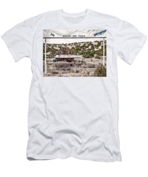 Kickin Ass Ranch Men's T-Shirt (Slim Fit) by Robert FERD Frank