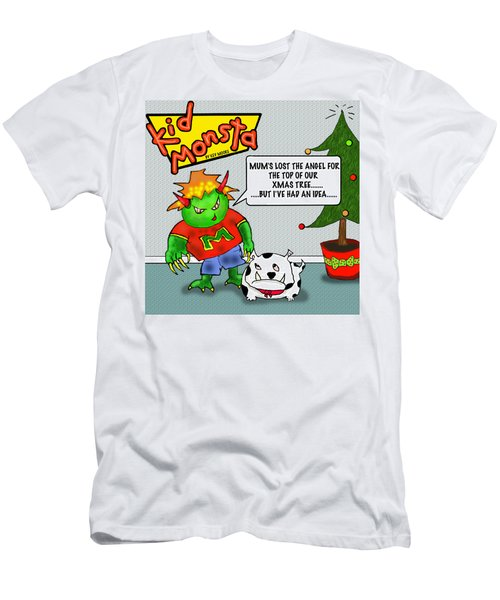 Kid Monsta Xmas 1 Men's T-Shirt (Athletic Fit)
