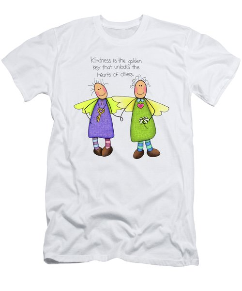 Kindness Men's T-Shirt (Slim Fit) by Sarah Batalka