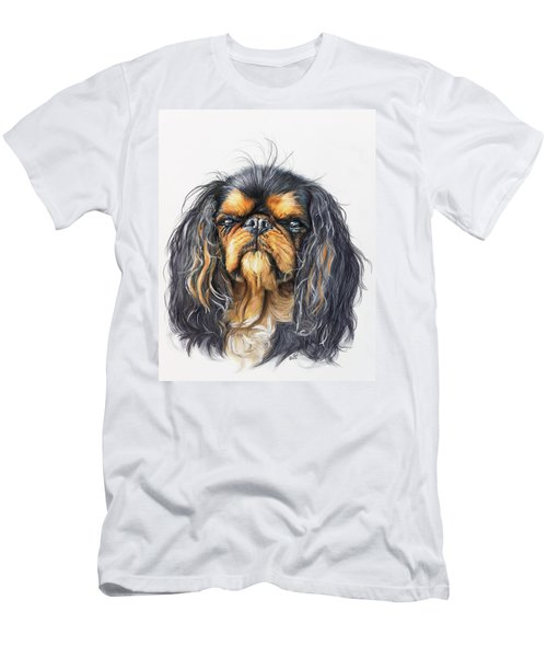Men's T-Shirt (Athletic Fit) featuring the painting King Charles Spaniel In Watercolor by Barbara Keith