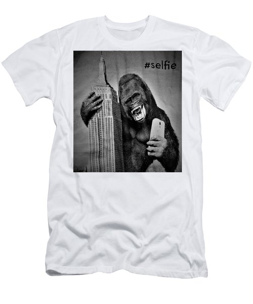 King Kong Selfie B W  Men's T-Shirt (Athletic Fit)