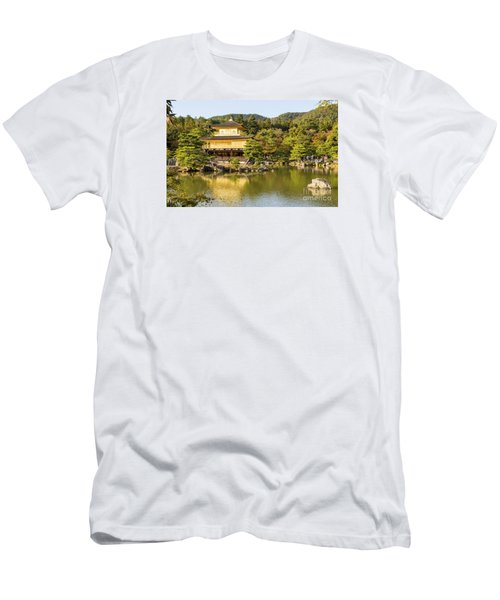 Men's T-Shirt (Slim Fit) featuring the photograph Kinkakuji by Pravine Chester