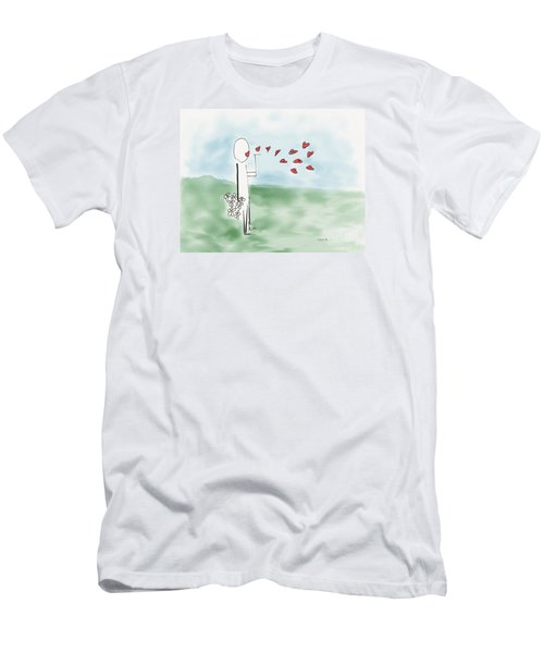 Men's T-Shirt (Slim Fit) featuring the photograph Kisses And Love   by Haleh Mahbod