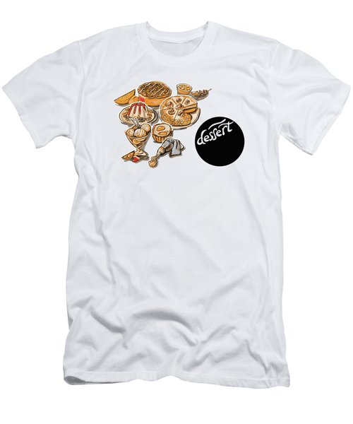 Kitchen Illustration Of Menu Of Desserts  Men's T-Shirt (Athletic Fit)