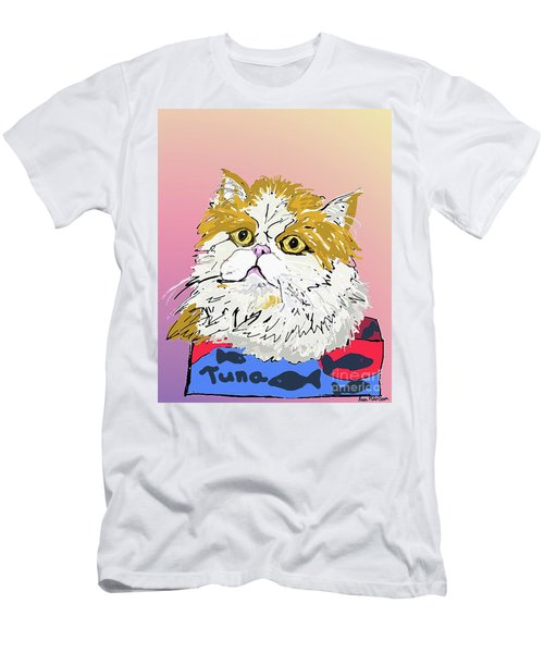 Kitty In Tuna Can Men's T-Shirt (Athletic Fit)
