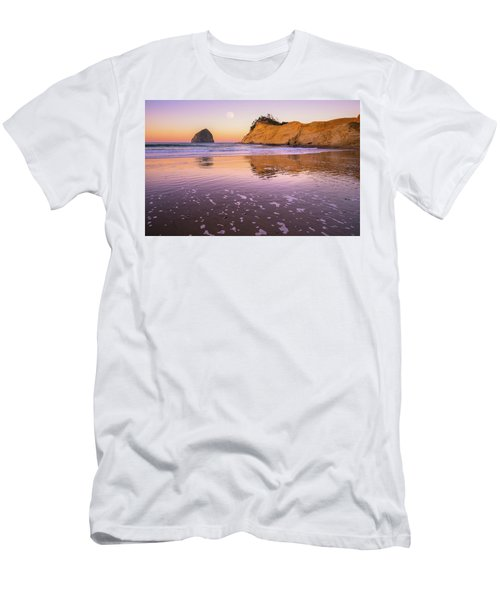 Men's T-Shirt (Athletic Fit) featuring the photograph Kiwanda Moon by Darren White