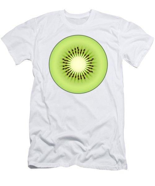Kiwi Fruit Men's T-Shirt (Slim Fit) by Miroslav Nemecek