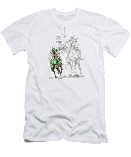 Men's T-Shirt (Slim Fit) featuring the drawing Knight Time - Renaissance Medieval Print Color Tinted by Kelli Swan