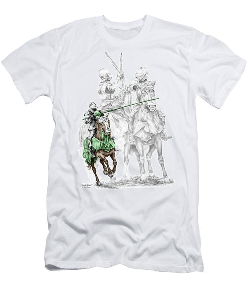 Knight Time - Renaissance Medieval Print Color Tinted Men's T-Shirt (Athletic Fit)