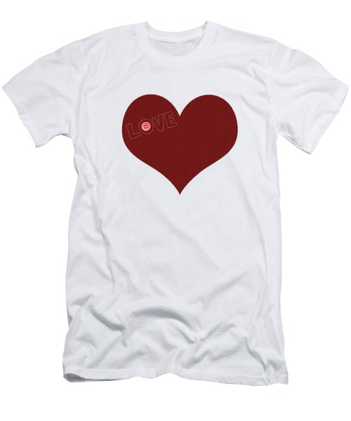 Knitted Heart.png Men's T-Shirt (Slim Fit) by Anton Kalinichev