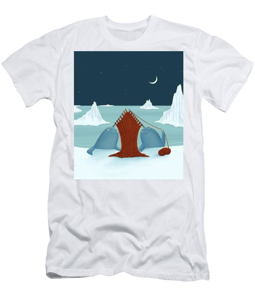Knitting Narwhals Men's T-Shirt (Athletic Fit)