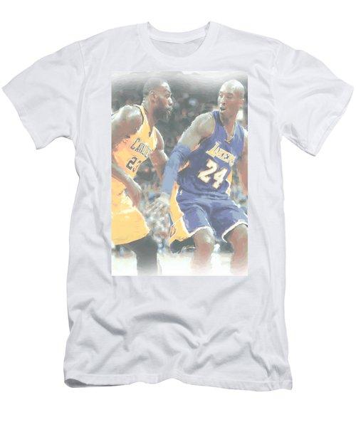 Kobe Bryant Lebron James 2 Men's T-Shirt (Slim Fit) by Joe Hamilton