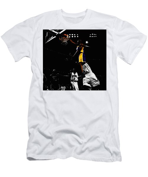 Kobe Bryant On Top Of Dwight Howard Men's T-Shirt (Slim Fit) by Brian Reaves
