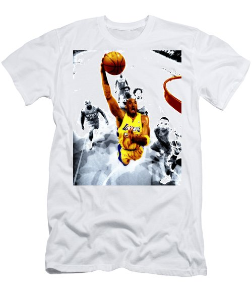 Kobe Bryant Took Flight Men's T-Shirt (Slim Fit) by Brian Reaves