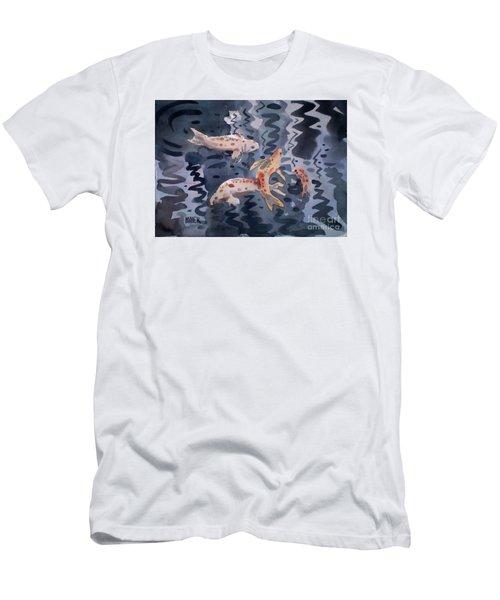 Koi Pond Men's T-Shirt (Slim Fit) by Donald Maier