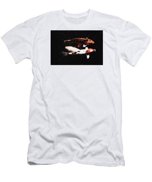 Men's T-Shirt (Slim Fit) featuring the photograph Koi Trio  by Deborah  Crew-Johnson