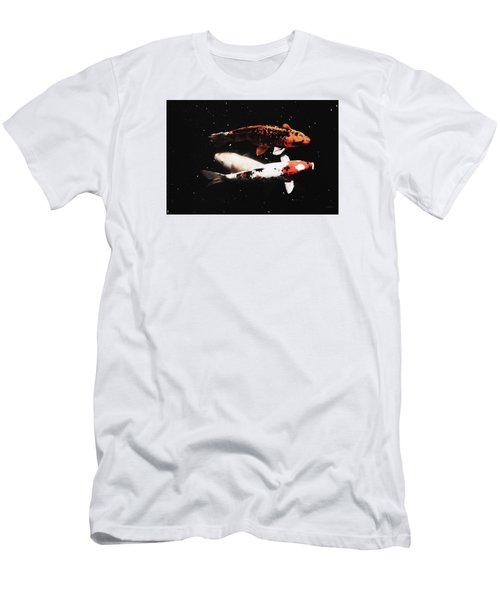 Men's T-Shirt (Athletic Fit) featuring the photograph Koi Trio  by Deborah  Crew-Johnson