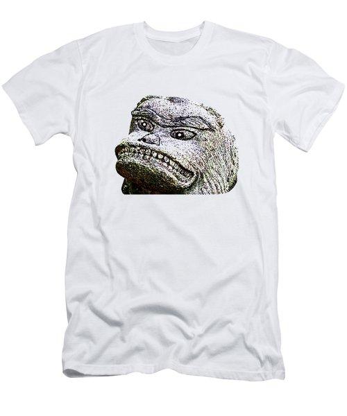 Men's T-Shirt (Athletic Fit) featuring the mixed media Komainu05n by Yoshimitsu Takuki