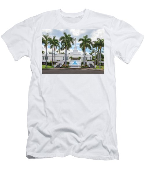 Kona Hawaii Temple-day Men's T-Shirt (Athletic Fit)