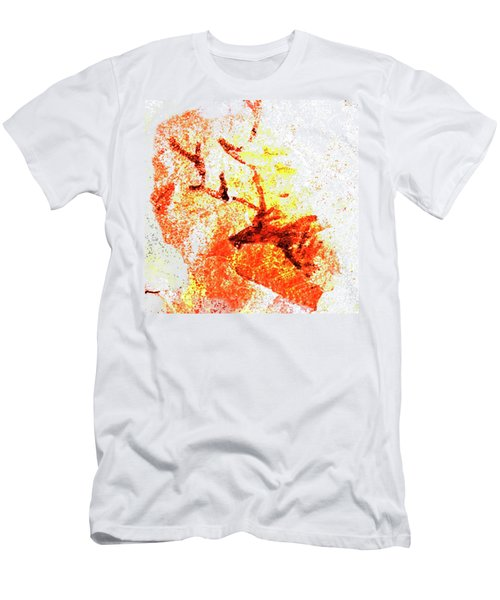 Men's T-Shirt (Slim Fit) featuring the digital art Kondane Deer by Asok Mukhopadhyay
