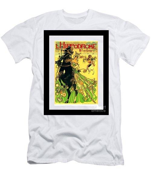 L Hippodrome 1905 Parisian Art Nouveau Poster II Manuel Orazi 1905 Men's T-Shirt (Athletic Fit)