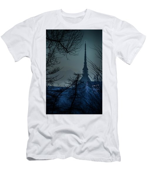 La Mole Antonelliana-blu Men's T-Shirt (Athletic Fit)