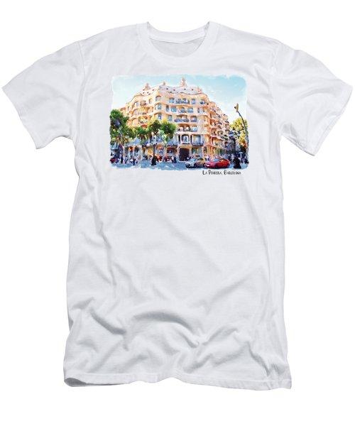 La Pedrera Barcelona Men's T-Shirt (Slim Fit) by Marian Voicu
