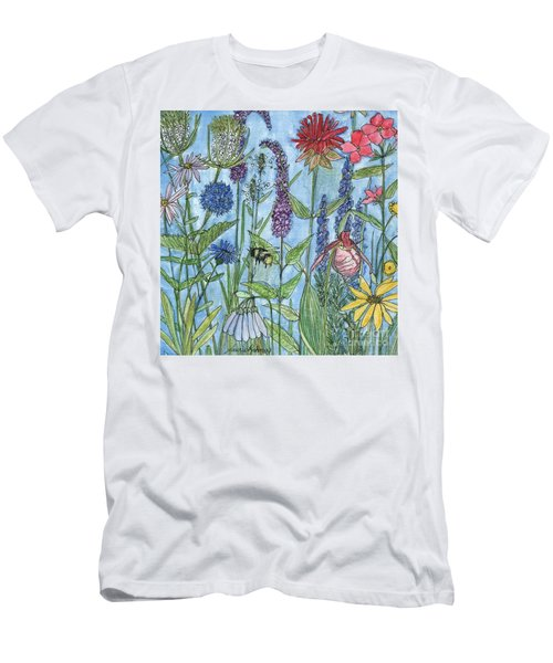 Lady Slipper In My Garden  Men's T-Shirt (Athletic Fit)