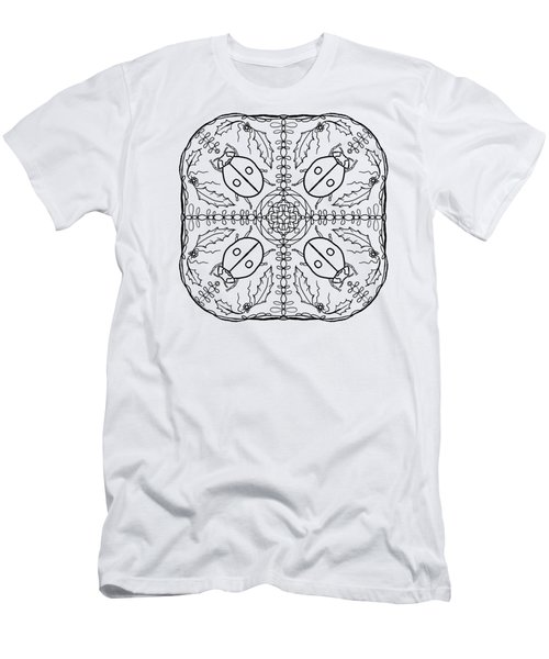 Ladybug Mandala Men's T-Shirt (Slim Fit) by Tanya Provines