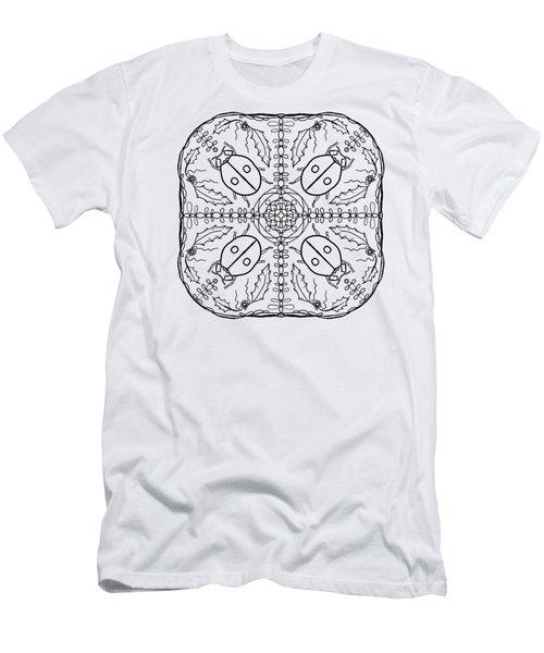 Ladybug Mandala Men's T-Shirt (Athletic Fit)