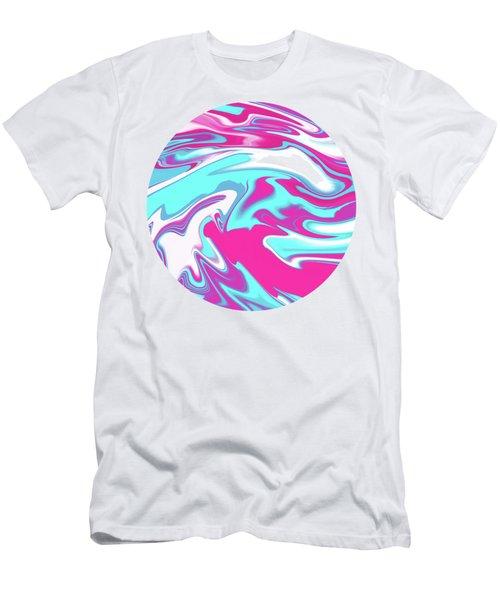 Aqua Magenta Marble Men's T-Shirt (Athletic Fit)