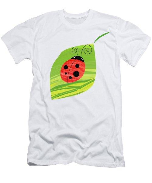 Ladybug On Leaf Men's T-Shirt (Athletic Fit)