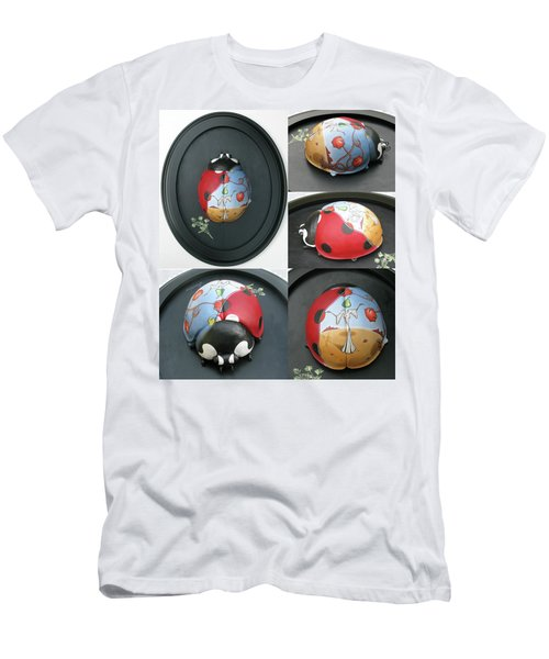 Ladybug On The Half Shell Men's T-Shirt (Athletic Fit)