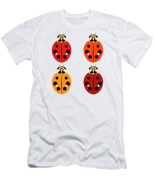 Ladybug Quartet Men's T-Shirt (Athletic Fit)