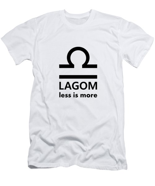 Lagom - Less Is More I Men's T-Shirt (Athletic Fit)