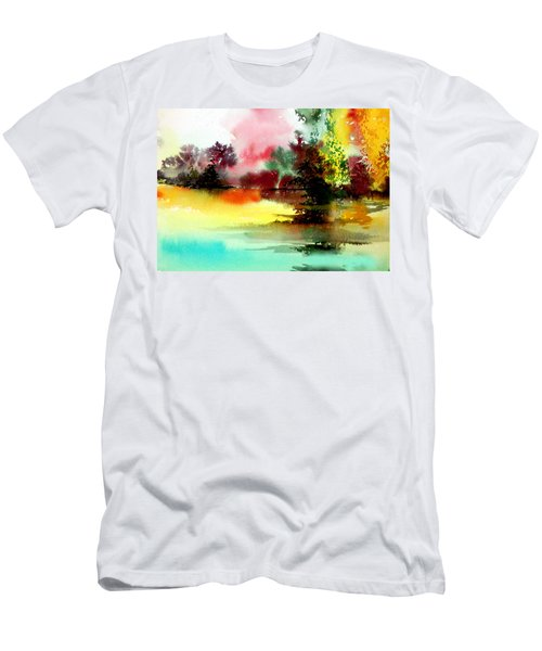 Lake In Colours Men's T-Shirt (Athletic Fit)