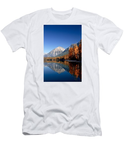 Lake Mcdonald Autumn Men's T-Shirt (Slim Fit) by Lawrence Boothby